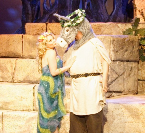 """Bottom and Titania in """"A Midsummer Night's Dream"""""""